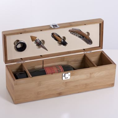 Personalised Wine Box and Bar Set