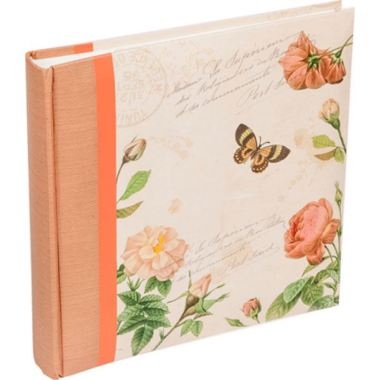 Butterfly and Floral Slip in Memo Photo Album