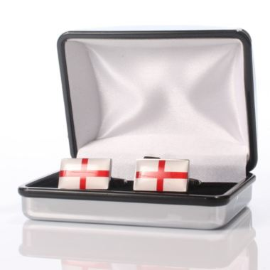 Personalised England Flag Cufflinks