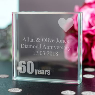60th (Diamond) Anniversary Keepsake