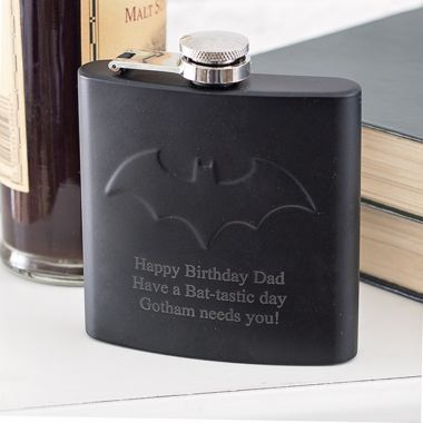 Personalised Batman Hip Flask