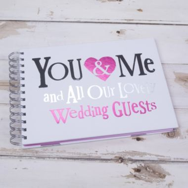You & Me And All Our Lovely wedding Guests Guestbook
