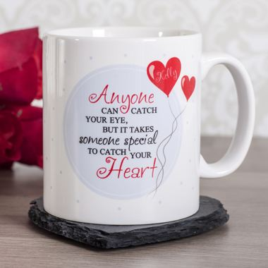 Personalised Catch Your Heart Mug