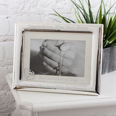 Personalised Confirmation Frame With Mount And Icon