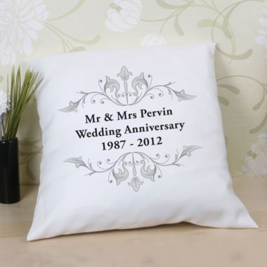 Wedding Gift Ideas Experience : Personalised Anniversary Cushion The Gift Experience