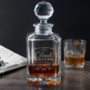 Engraved Father's Day Square Crystal Decanter
