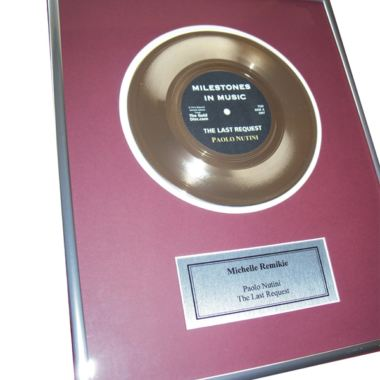 First Anniversary Edition - Personalised Gold Disc