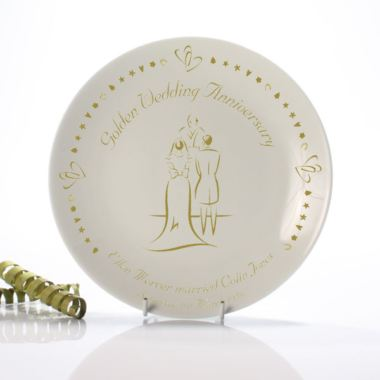 Golden Wedding Anniversary Plate The Gift Experience
