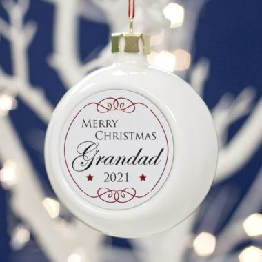 Personalised Grandad Christmas Bauble