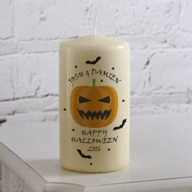 Personalised Halloween Candle