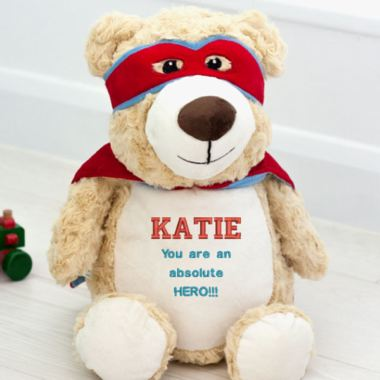 Personalised Embroidered Cubbies Super Hero Bear Soft Toy