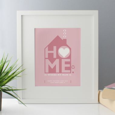 Personalised Home Is Where My Mum Is Framed Print