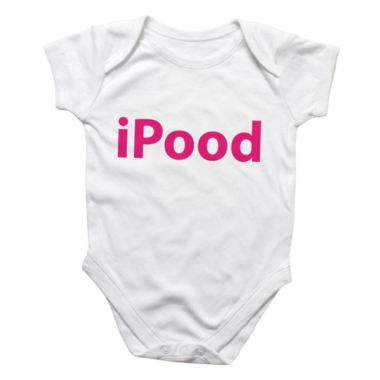 Personalised iPood Baby Grow