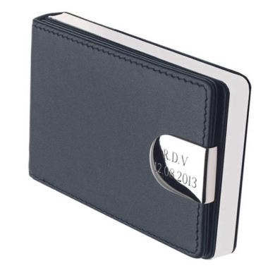 Personalised Leather Business Card Case