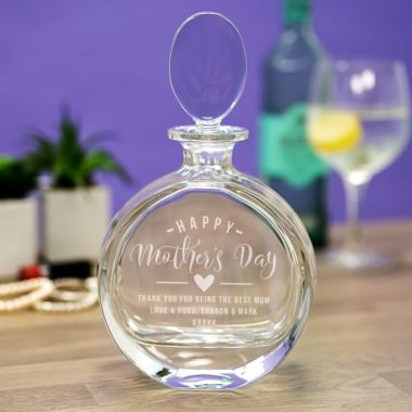 Personalised Mother's Day Crystal Decanter