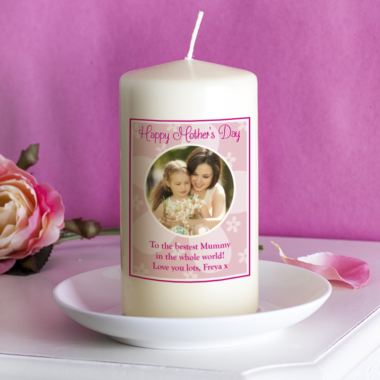 Personalised Mother's Day Photo Candle