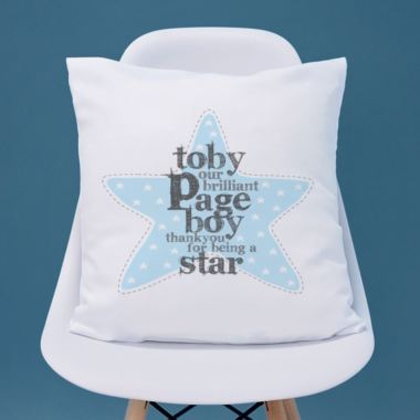Personalised Page Boy Cushion