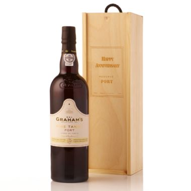 Fine Tawny Port Presented in a Personalised Wooden Gift Box