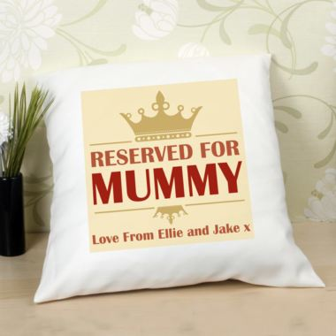 Reserved For Mummy Personalised Cushion