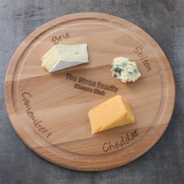 Personalised Round Wooden Cheese Board