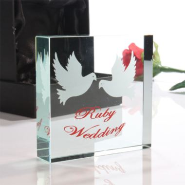 Ruby Wedding Anniversary Gift Experiences : 40thRuby Wedding Anniversary Paperweight The Gift Experience