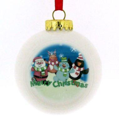Write Your Own Message Bauble - Santa & Friends