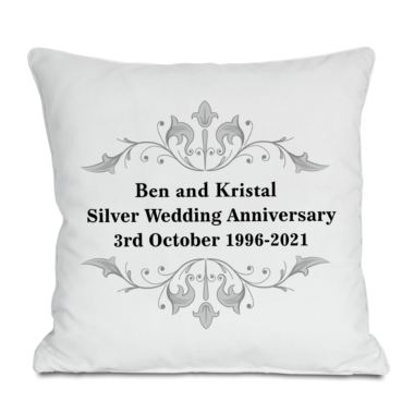 Personalised Silver Anniversary Cushion