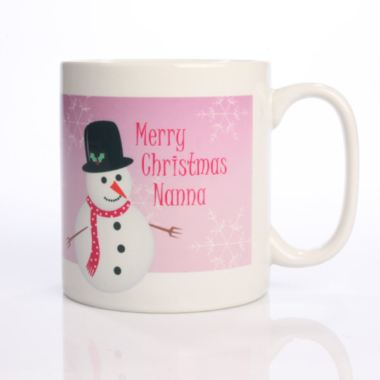 Christmas Snowman Personalised Mug