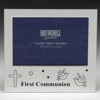 First Communion Doves and Cross Photo Frame