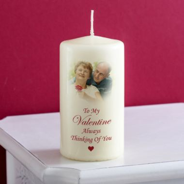 Valentines Day Personalised Photo Candle