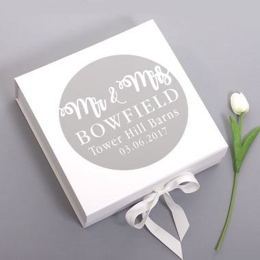 Mr & Mrs Personalised Wedding Keepsake Box