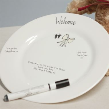 Welcome Plate (New Baby)