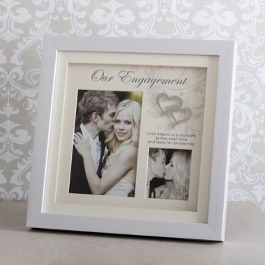 Our Engagement Double Photo Frame