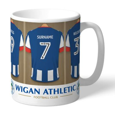 Personalised Wigan Athletic FC Dressing Room Mug