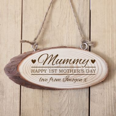 Personalised 1st Mother's Day Wooden Hanging Plaque