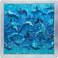 3D Mega Magnatile Dolphin Puzzle