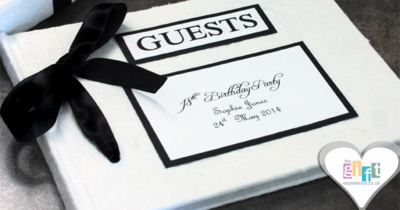 Keep your party memories fresh with a perfectly personalised guest book!