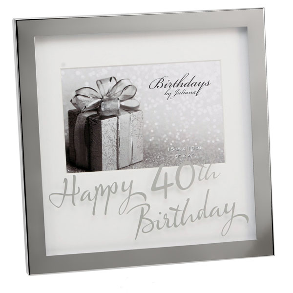Happy 40th Birthday Photo Frame - 40th Birthday Gifts