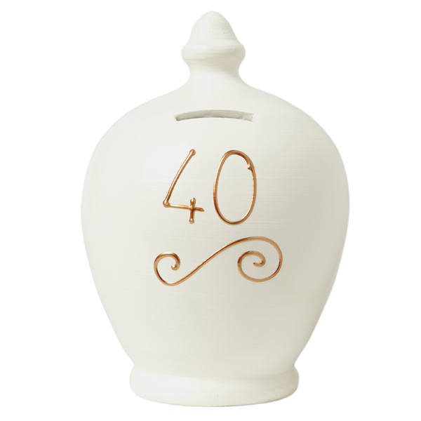 40th Birthday Personalised Terramundi Money Pot - 40th Birthday Gifts