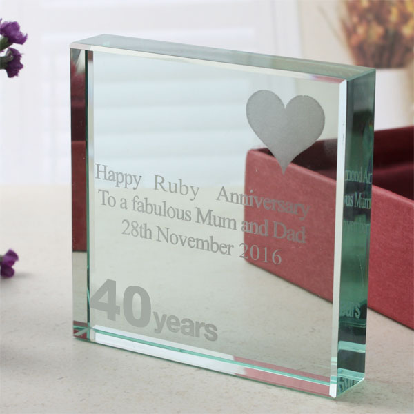 40th (Ruby) Anniversary Keepsake - Ruby Wedding Anniversary Gifts