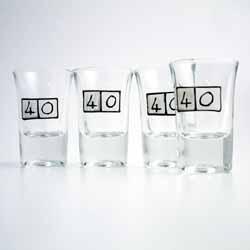 Age Shot Glasses 40