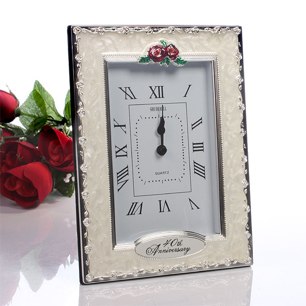 40th Anniversary Clock - 40th Gifts