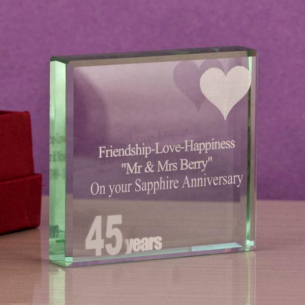 45th (sapphire) anniversary keepsake