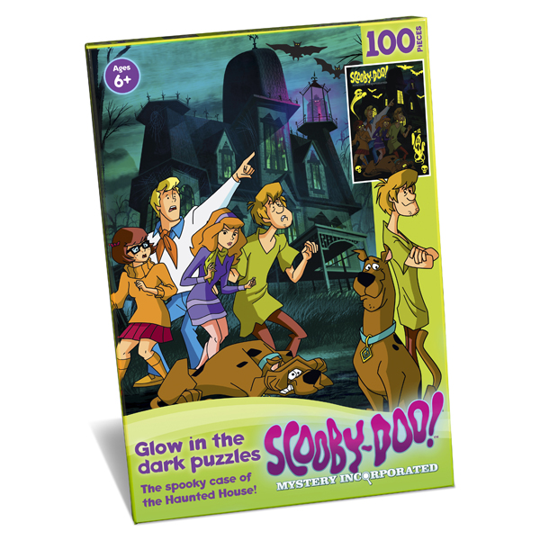 Scooby Doo Glow In The Dark Haunted House 100pc Jigsaw Puzzle - Jigsaw Puzzle Gifts