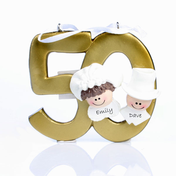 50th Anniversary Personalised Hanging Ornament