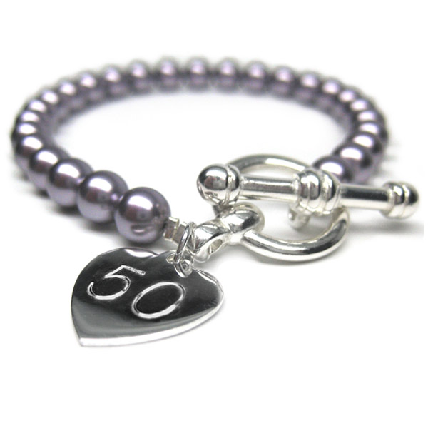 50th Birthday Personalised Harmony Bracelet - 50th Birthday Gifts