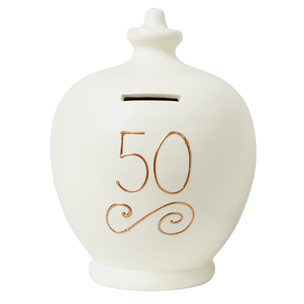 50th Birthday Personalised Terramundi Money Pot