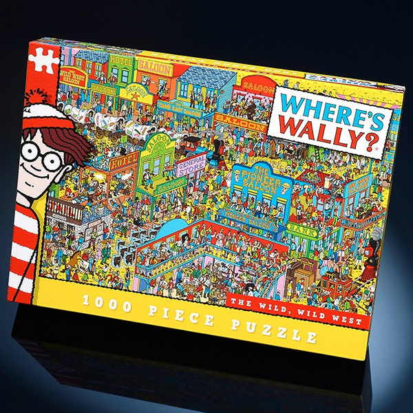 Where's Wally Wild West 1000pc Jigsaw Puzzle - Jigsaw Puzzle Gifts