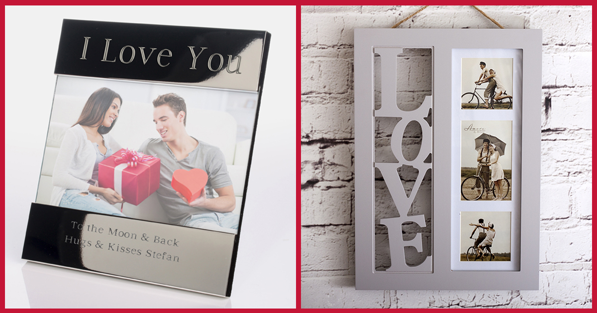 I Love You Shiny Silver Photo Frame & 3D Love Letters Photo Frame