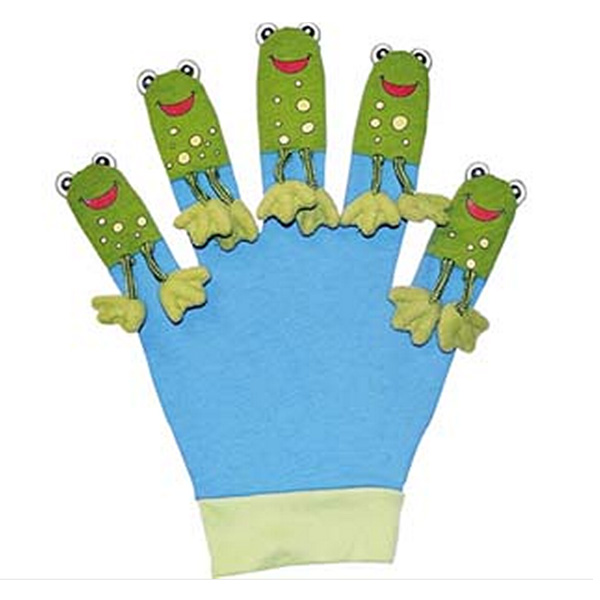 Five Little Speckled Frogs - Favourite Song Mitt - Frogs Gifts